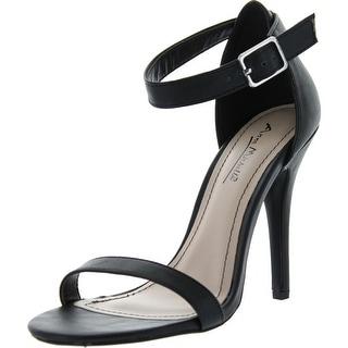 Anne Michelle Womens Enzo-01N Ankle Strap Open Toe Stiletto High Heel Dress Sandal