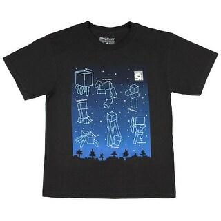Minecraft Big Boys' Glow-In-The-Dark Constellations T-Shirt