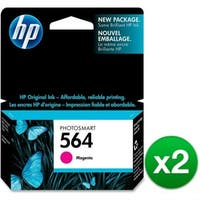 HP 564 Magenta Original Ink Cartridge (CB319WN)(2-Pack)