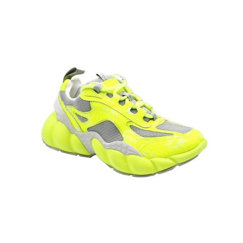 MCM Women's Neon Yellow Luft Collection Visetos Canvas Sneaker MES9ANX05YN (37 EU / 7 US) - 37 EU / 7 US