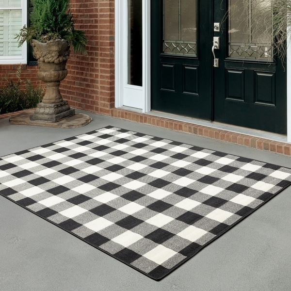 The Gray Barn Told Gait Indoor/ Outdoor Gingham Check Area Rug. Opens flyout.