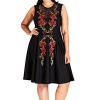d72bb18966 Shop City Chic Black Women s Size 24W Plus Summer Floral Maxi Dress ...