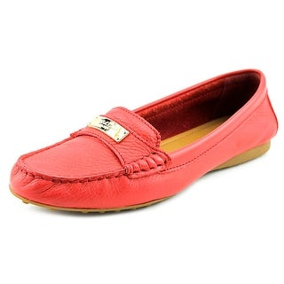 Coach Fredrica Women Round Toe Leather Red Loafer