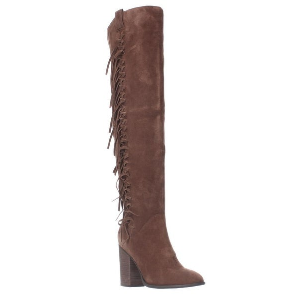 Carlos by Carlos Santana Garrett Fringe Over The Knee Slouch Boots, Mustang