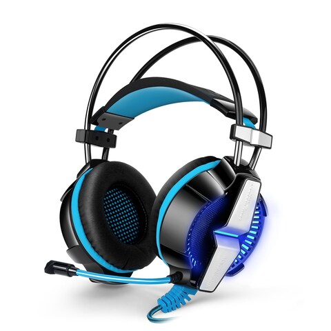 KOTION EACH GS700 3.5mm Gaming Headset Headphone with Mic Stereo Bass LED Light for PS4 PC Computer Laptop Mobile Phones