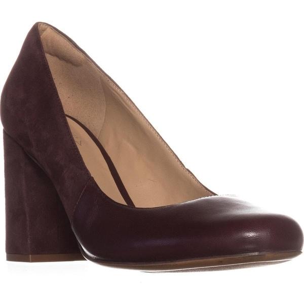 naturalizer Rhea Square-Toe Comfort Heels, Bordo Leather