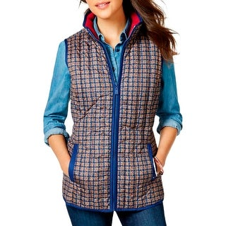 Tommy Hilfiger Womens Packable Vest Down Printed