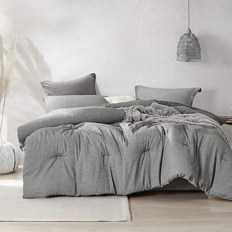 Chainlink Carbon Oversized Comforter - 100% Yarn Dyed Cotton