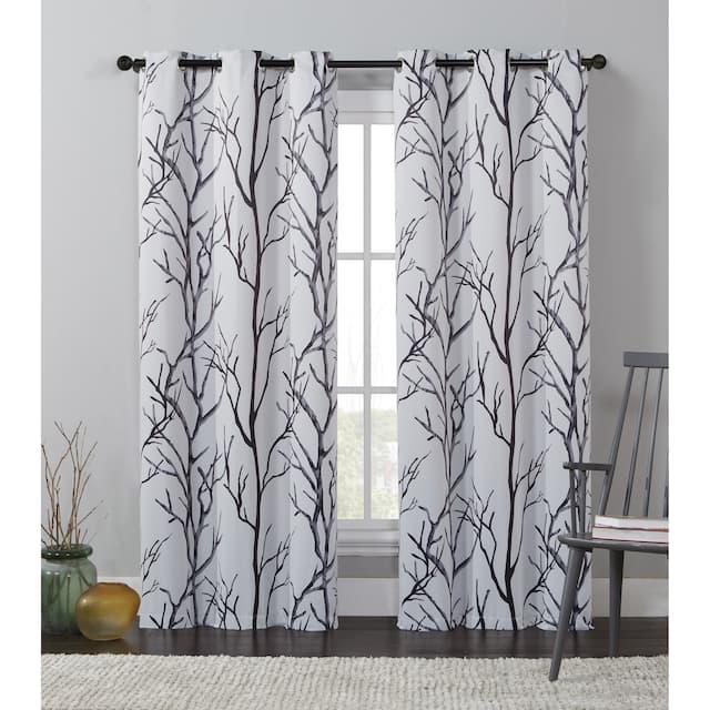 "VCNY Home Kingdom Branch Blackout Curtain Panel - 42"" x 84"" - Ivory"