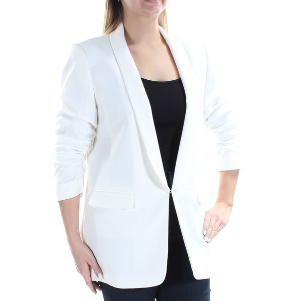 Womens Ivory Wear To Work Suit Jacket Size 10