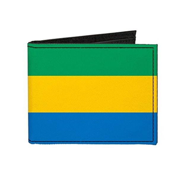 Buckle-Down Canvas Bi-fold Wallet - Gabon Flag Accessory