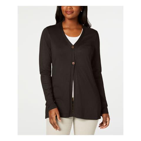 KAREN SCOTT Black Long Sleeve Sweater S