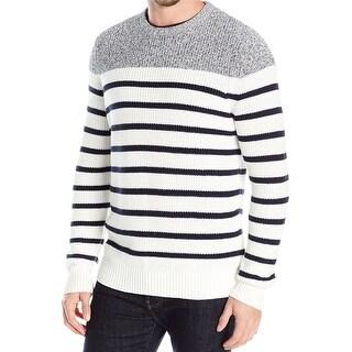 Nautica NEW Blue Marshmallow White Mens Size XL Crewneck Sweater