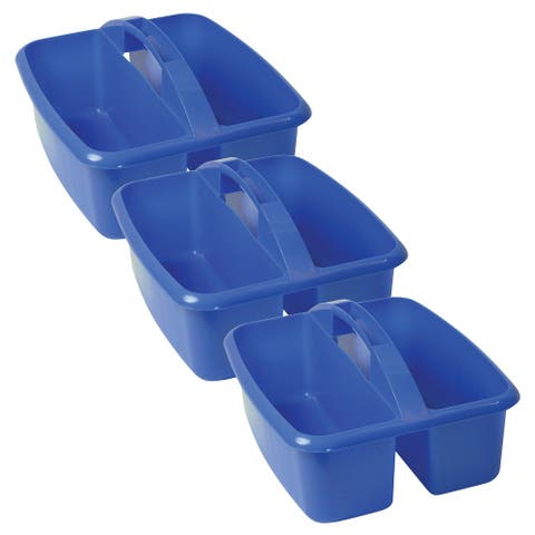 Large Utility Caddy, Blue, Pack of 3