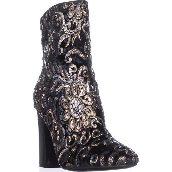 Guess Lovebugi Block-Heel Booties, Black Multi