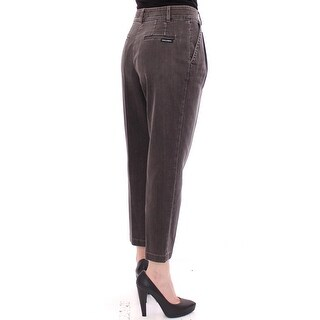 Dolce & Gabbana Dolce & Gabbana Gray Cotton Cropped Jeans Regular Fit Pants - it40-s