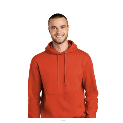 One Country United Men's Orange LARGE Hooded Sweatshirt