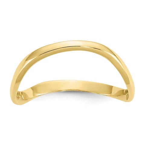 10K Yellow Gold High Polished Wave Fashion Thumb Ring by Versil