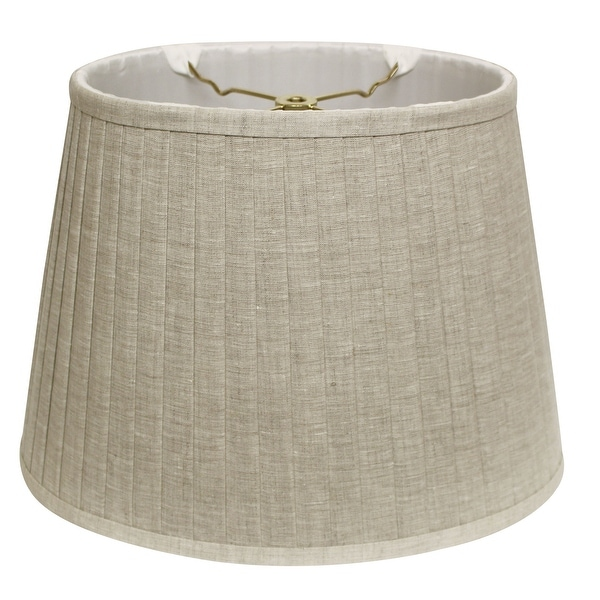 Cloth & Wire Slant Linen Oval Side Pleat Softback Lampshade with Washer Fitter, Oatmeal. Opens flyout.