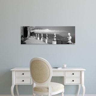 Easy Art Prints Panoramic Image 'Marble busts, Ravello, Amalfi Coast, Salerno, Campania, Italy' Canvas Art