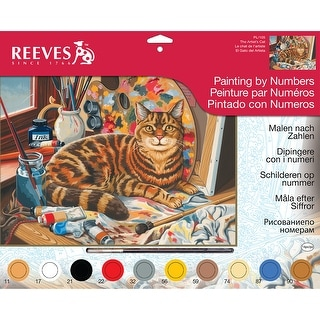 "Paint By Number Kit 12""X16""-Resting Cat"