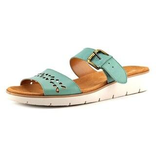 Naturalizer Daria W Open Toe Leather Wedge Heel