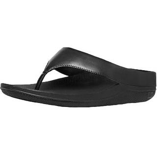 FitFlop Womens Ringer Toe Post Leather Flip Flops Sandal