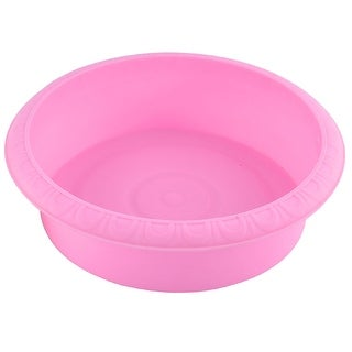 Home Office Plastic Bowl Shaped Aloes Cactus Plant Flower Pot Pink