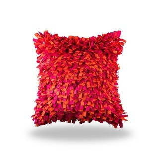 100% Handmade Imported Into the Flame Pillow Cover, Multi Shades of Blood Red Orange