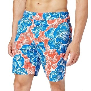 Tommy Hilfiger NEW Blue Red Mens Size Medium M Floral Board Shorts