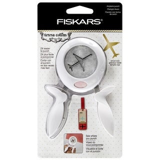 Fiskars Teresa Collins Large Squeeze Punch-Airplane