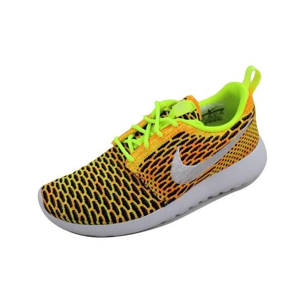sports shoes 4305e f893c ... release date nike womenx27s roshe one flyknit volt white total orange  779e1 f6b1b