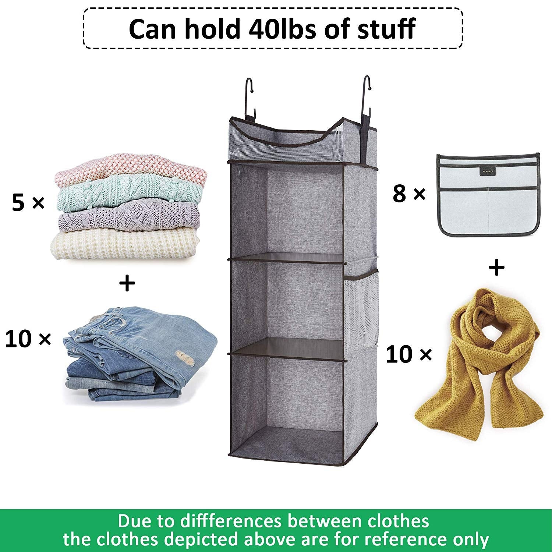 Storageworks 3 Shelves Hanging Closet Organizer Gray 12 0 L X 12 0 W X 31 0 H