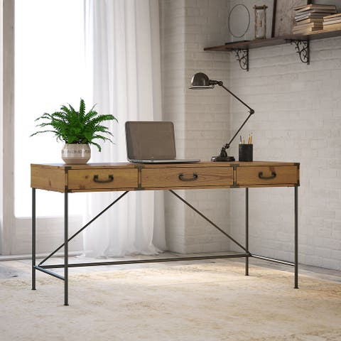 Ironworks Writing Desk from kathy ireland Home by Bush Furniture