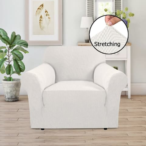 PrimeBeau 1-Piece Jacquard Stretchy Slicpver Chair Size - 7565