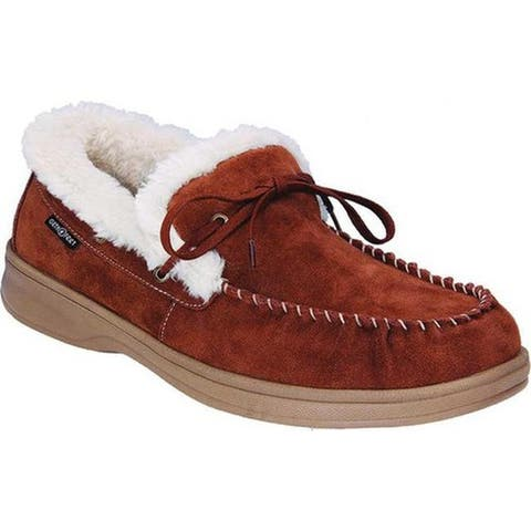 Orthofeet Men's Tuscany Moccasin Brown Suede