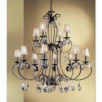 "Classic Lighting 68319-EB 48"" Crystal Chandelier from the Manilla II Collection"