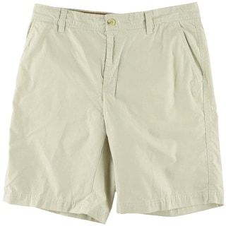 Izod Mens Seaside Poplin Poplin Flat Front Casual Shorts - 36