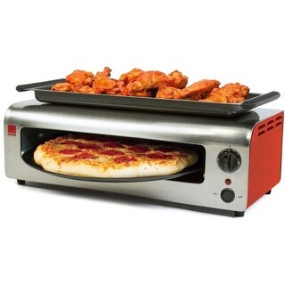 Ronco PO1001RDGEN Pizza & More Toaster Oven, Red & Stainless