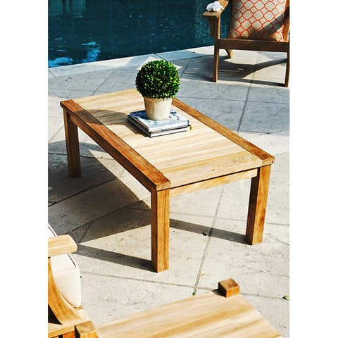 Laurel Teak Rectangle Outdoor Coffee Table