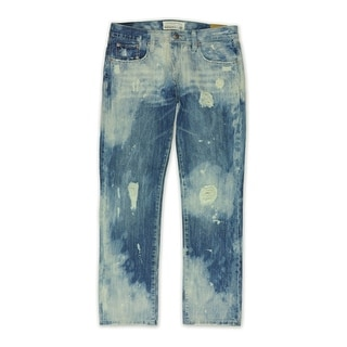 Link to Ecko Unltd. Mens Chaos Wash Destroyed Slim Fit Jeans, blue, 28W x 31L - 28W x 31L Similar Items in Pants