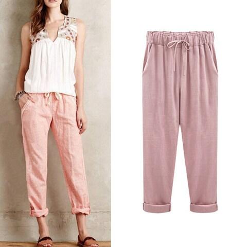 Summer Breathable Cotton Pants