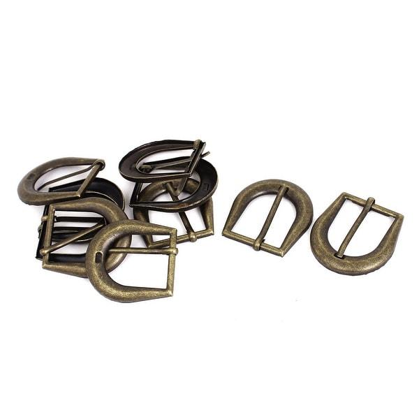 Unique Bargains Leather Bag Clothes Vintage Style Metal Single Pin Buckles Bronze Tone 10Pcs