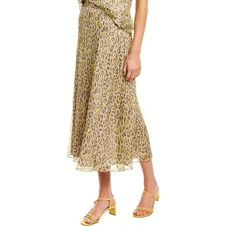 Link to Theory Leopard Silk Midi Skirt Similar Items in Pants