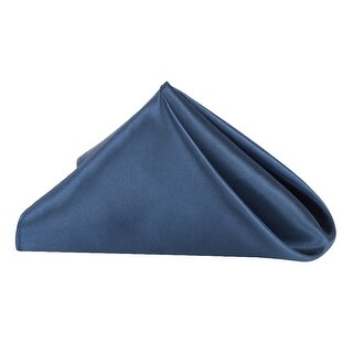 """50 Pieces, Satin Napkin 20""""x20"""" square Edge: Hemmed Material: 100% Polyester - Navy Blue"""