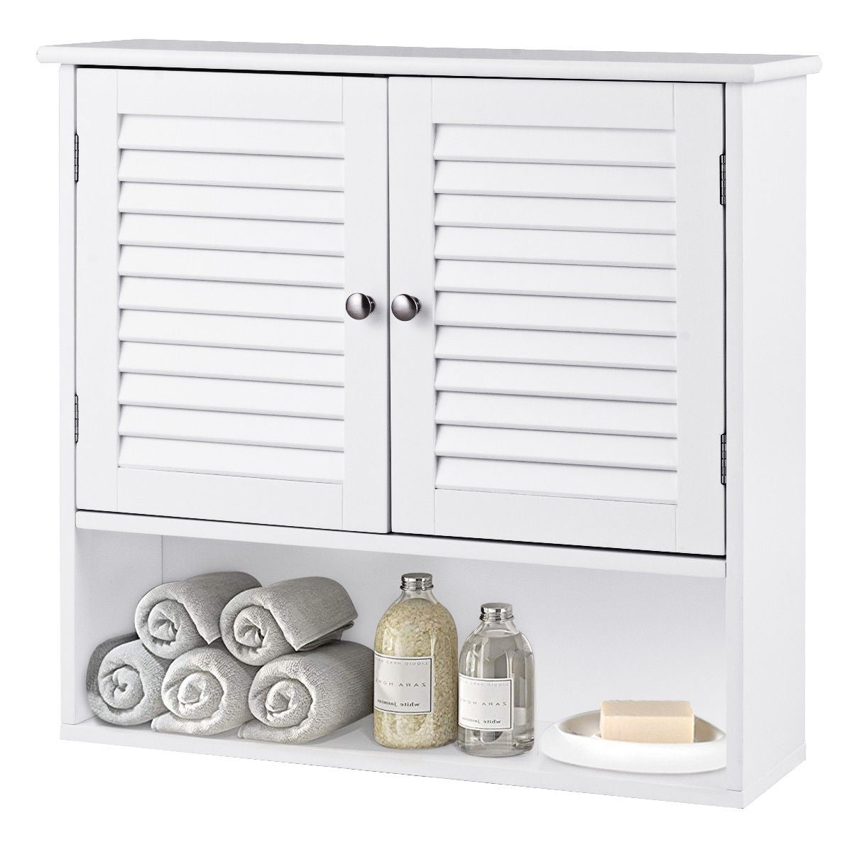 Shelves Bathroom Wall Storage Cabinet