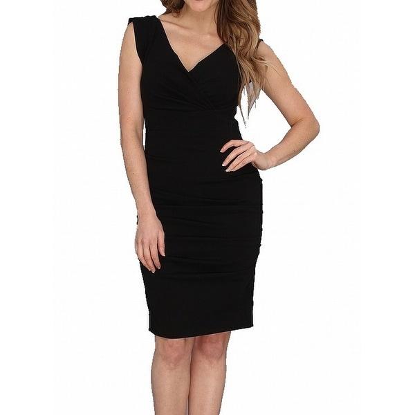 Shop Nicole Miller New Black Womens Size 0 Pleated Sheath Dress