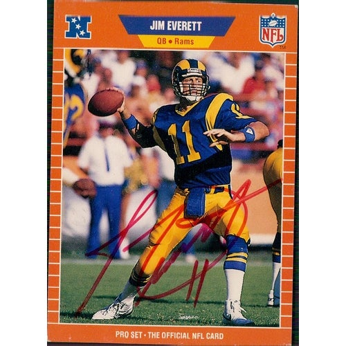Shop Signed Everett Jim Los Angeles Rams 1989 Pro Set Football Card Autographed
