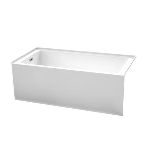Grayley 60-Inch x 30-Inch Alcove Bathtub in White with Options