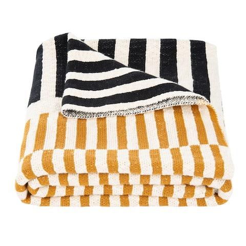 SAFAVIEH Lupin 50 x 60-inch Stripe Cotton Throw Blanket